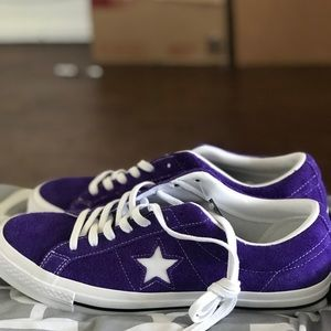 PURPLE CONVERSE ONE STAR SIZE 10